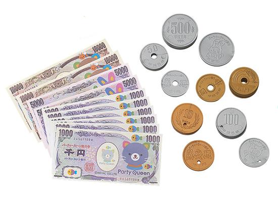 1.お札やコインがたくさん♪